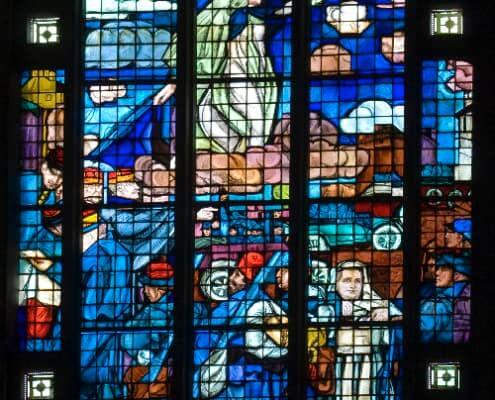 Marie guidant les troupes vers la victoire de la bataille de l'Ourcq en 1914