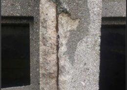 Eclatement du béton en façade
