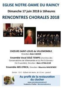 Affiche du concert du 17 juin 2018