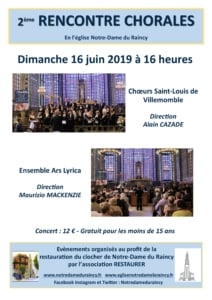 Rencontre chorales 16 juin 2019