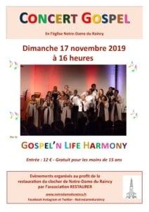 Concert de l'ensemble Gospel'n Life Harmony @ Notre-Dame du Raincy   Le Raincy   Île-de-France   France