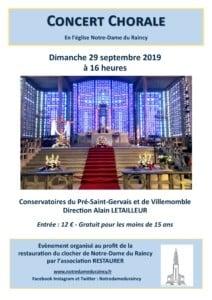 Concert des chorales des conservatoires de Villemomble et du Pré-Saint-Gervais @ Notre-Dame du Raincy | Le Raincy | Île-de-France | France